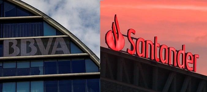 Banco Santander y BBVA en zona de soportes peligrosas. Análisis de la situación y técnico