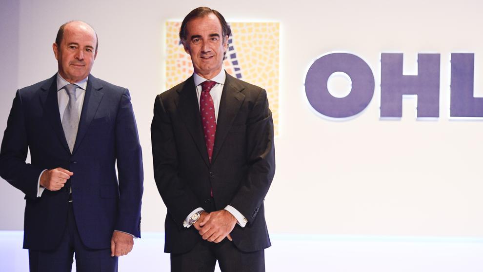 A la izquierda José Antonio Fernández Gallar, Consejero Delegado de OHL