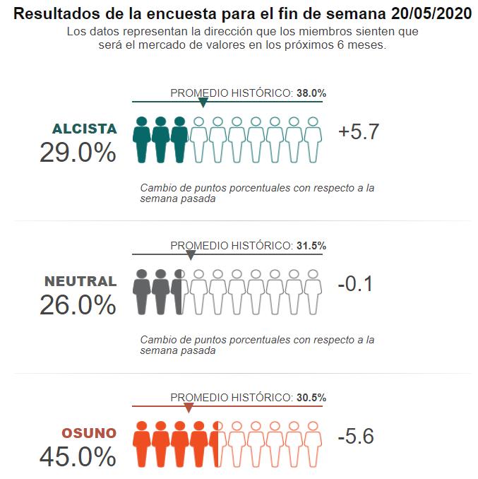 AAII: Resumen de la encuesta de Inversores Individuales