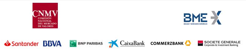 blockchain CNMV Santander BBVA Caixabank BME