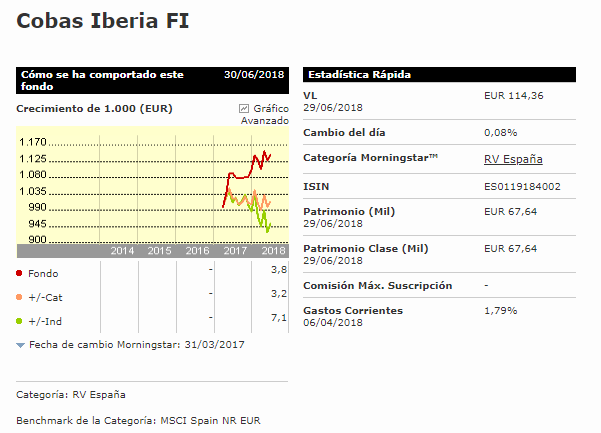 Cobas Iberia fondo value
