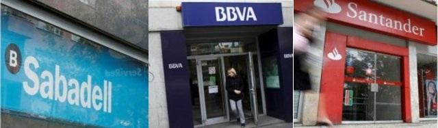 Santander BBVa y Sabadell mercado bajista