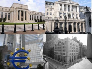 Los  bancos centrales, contra el enfriamiento económico y la baja inflación