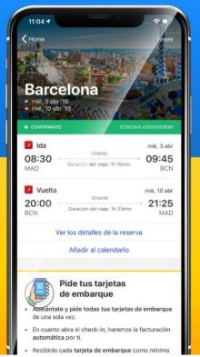 edreams odigeo check in en apps moviles