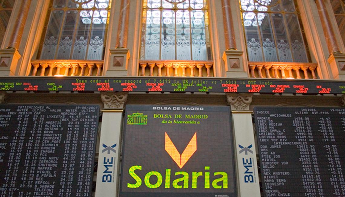 Solaria, entrará en el Ibex 35 el próximo 19 de octubre