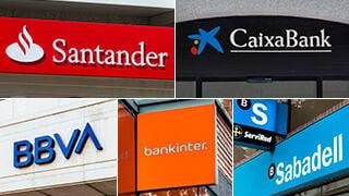 Sector bancario a examen: CaixaBank, Santander, BBVA, Sabadell y Bankinter bajo la lupa