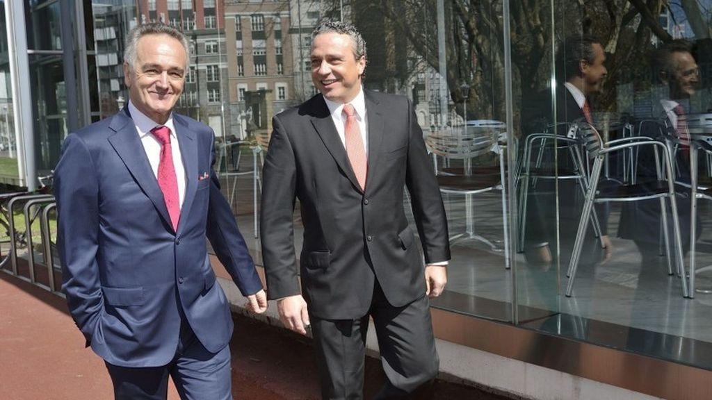 Antón Pradera, presidente de CIE Automotive y Jesús María Herrera, consejero delegado.