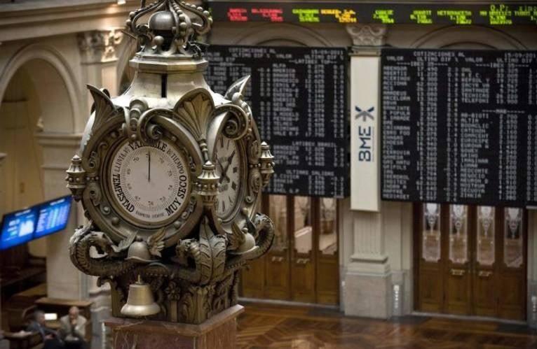 Parqué de la Bolsa de Madrid.