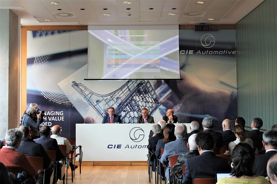CIE Automotive se dispara en el Ibex 35 tras elevar su beneficio un 15% en el primer trimestre